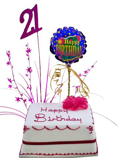 21st Birthday Cake Gift Hamper Mud Cake