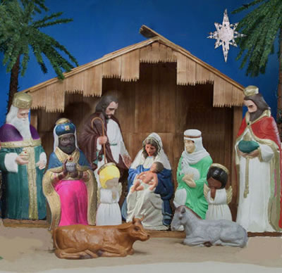 A Nativity Scene Christmas Hamper