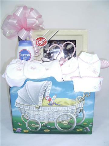 Baby girl or Boy in a theme box