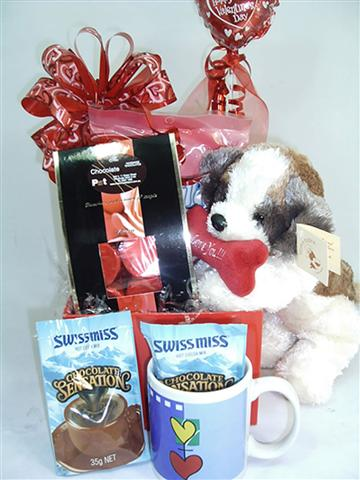 CHOCOLATE MUG AND TRUFFLES.