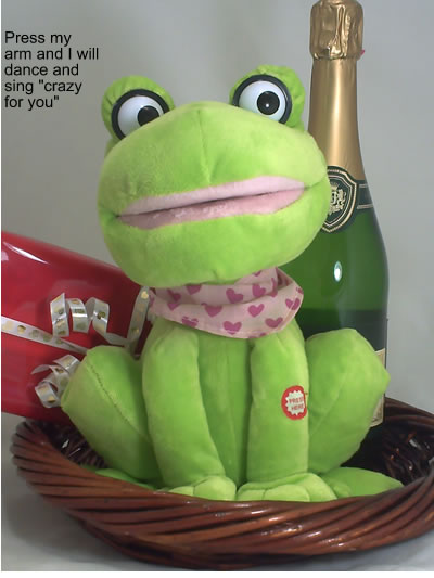 Crazy snging frog with bubby and chocolates